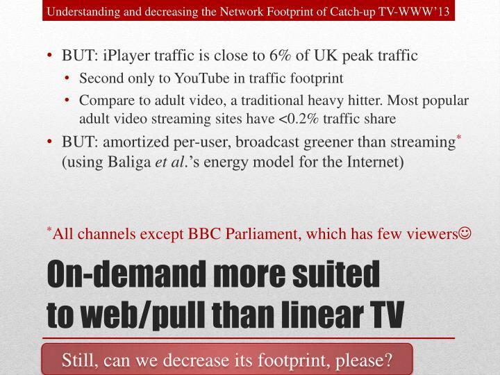 Understanding and decreasing the Network Footprint of Catch-up TV-WWW'13