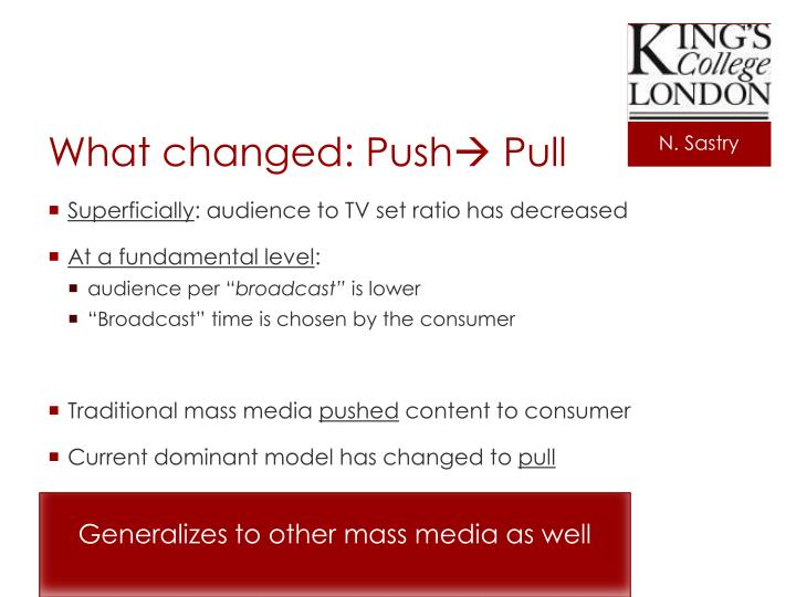 What changed: Push