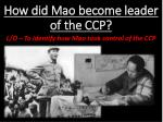 how did mao become leader of the ccp