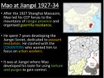mao at jiangxi 1927 34