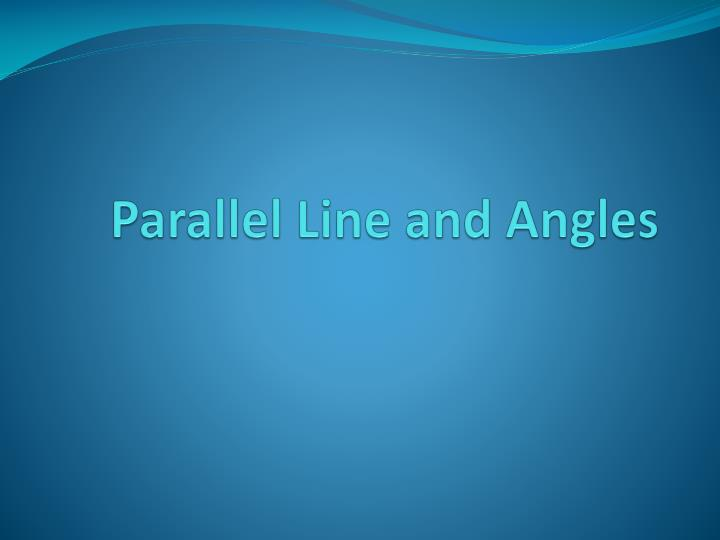 parallel line and angles n.