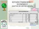 estudio financiero y econ mico gastos de depreciacion
