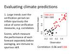 evaluating climate predictions