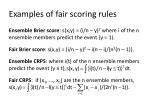 examples of fair scoring rules