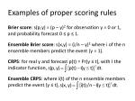 examples of proper scoring rules