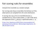 fair scoring rules for ensembles