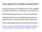 how good are climate predictions