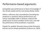 performance based arguments
