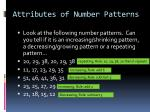 attributes of number patterns3