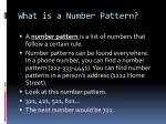 what is a number pattern