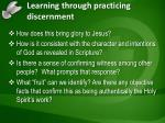 learning through practicing discernment1