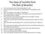 the steps of humility from the rule of benedict