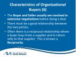 characteristics of organizational buyers 6