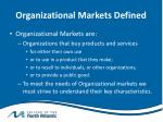 organizational markets defined