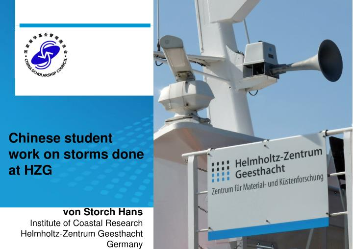 chinese student work on storms done at hzg n.