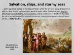 salvation ships and stormy seas