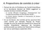 4 propositions de comit s cr er