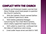 conflict with the church