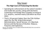 key issue the high cost of protecting the border