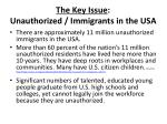 the key issue unauthorized immigrants in the usa