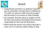 famish