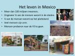 het leven in mexico