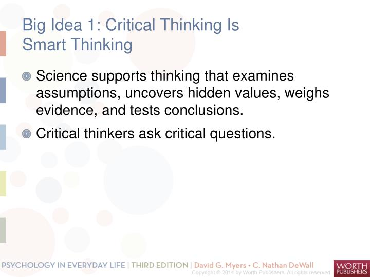 psychology critical thinking questions