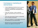 campagnes marketing et v nements