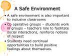 a safe environment
