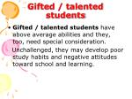 gifted talented students