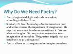 why do we need poetry
