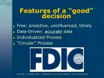 features of a good decision