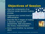 objectives of session2