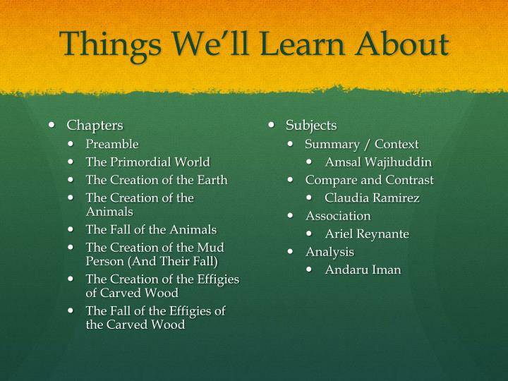 things we ll learn about n.