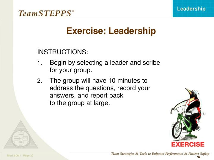 Exercise: Leadership