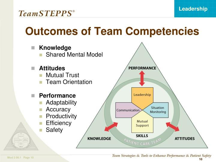 Outcomes of Team Competencies