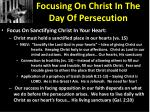 focusing on christ in the day of persecution1