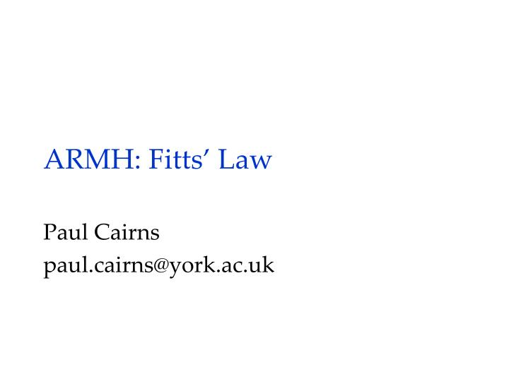 armh fitts law n.