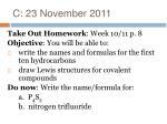 c 23 november 2011