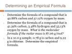 determining an empirical formula
