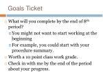 goals ticket
