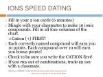 ions speed dating