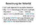 berechnung der molarit t