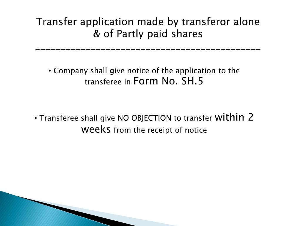 PPT - Transfer and Transmission of Securities PowerPoint ...