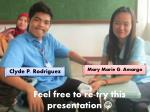 feel free to re try this presentation