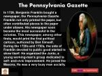 the pennsylvania gazette