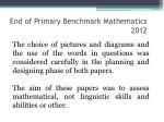 end of primary benchmark mathematics 20123