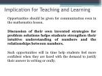 implication for teaching and learning2