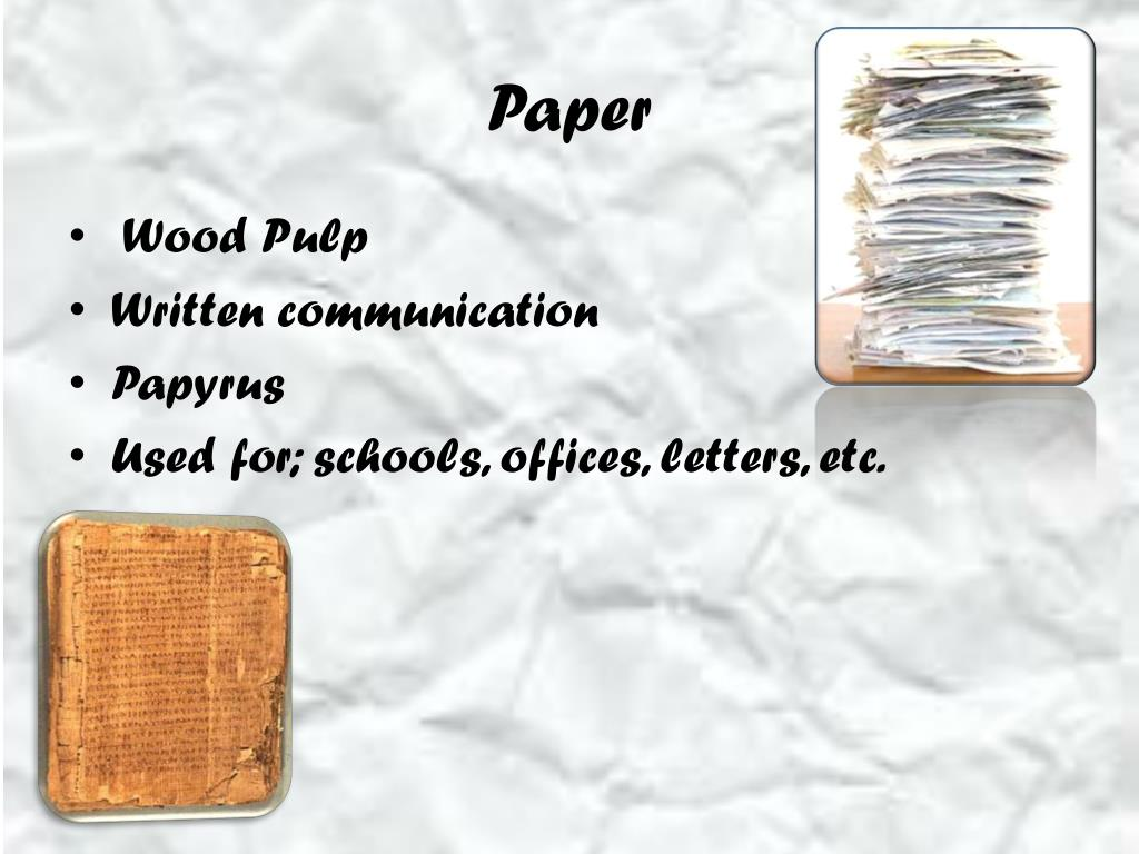 Ppt How Paper Is Made From Trees Powerpoint