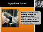 repetition factor